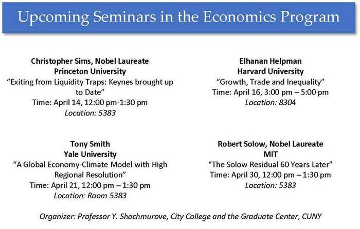 Notable Seminars 2015